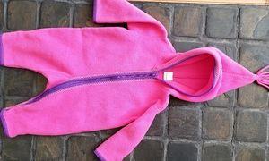 Hanna Andersson fleece hooded winter zipup